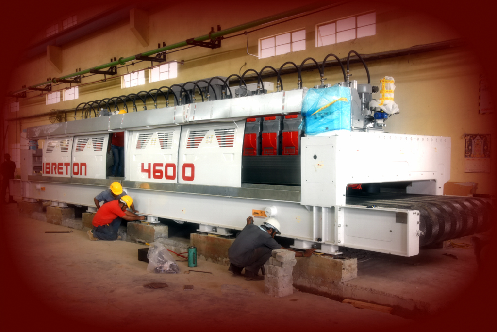 Thats' our 3rd !     Installation in progress  – New Polishing Line for Slabs